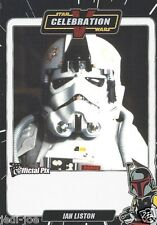 Ian Liston Official Pix Star Wars Autograph Trading Card Celebration V Exc