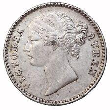 British India 1840 Queen Victoria Silver 1/4 Rupee KM#454.1