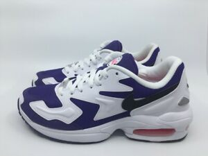 Nike Air Max2 Light AO1741 103 white black court purple Sneaker