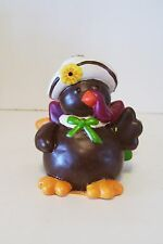 RESIN WAVING TURKEY HALLOWEEN TRICK OR TREAT THANKSGIVING DECORATION