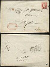 FRANCE 1859 RAILWAY NAPOLEON 80c IMPERF...CHEMIN DE FER EST LITIGES...VOUZIERS