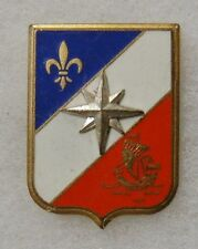 ORIGINAL Vintage FRENCH ARMY DISTINCTIVE UNIT INSIGNIA BADGE - FRAISSE