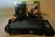 Microsoft Xbox 360 S Slim 250 GB Model 1439 Console With Cables and 2 Games