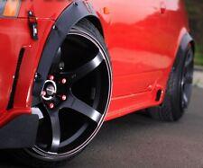 Rims Tuning 2x Wheel Thread Mudguard Trim Widening Black for Isuzu Vega