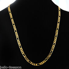 24K Gold Plated 4.2mm Men's Links Chain Necklace 59.5cm