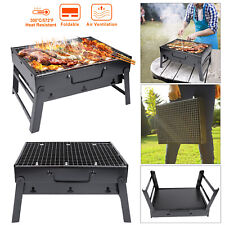 Portable BBQ Barbecue Grill Large Folding Charcoal Stove Camping Garden Outdoor