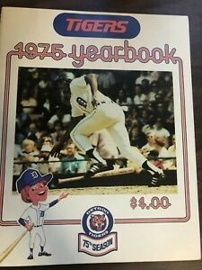 MLB BASEBALL DETROIT TIGERS YEARBOOK 1975 EXCELLENT CONDITION