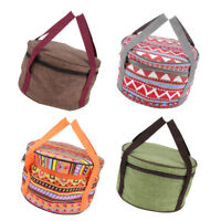 Portable Picnic Cookware Storage Box Camping Pot Pan Dishes Organizer Holder
