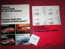 N°4787 /  dépliant gamme AUDI 1971  coupé,berline et break   1971