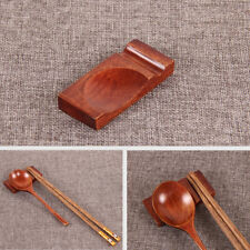 New Wooden Chopsticks Rest Dinner Spoon Stand Fork Holder Rack Storage