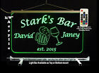 Personalized LED Man Cave Bar Sign- Garage Sign, Gift for Dad -Beer mugs