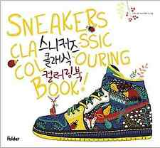 Sneakers Classic Coloring Book Adult Anti Stress Art Therapy DIY Craft Painting