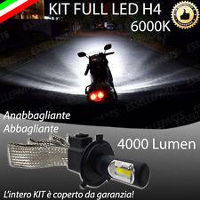 KIT LAMPADA LED H4 COB 4000 LUMEN 6000K 12V PER MOTO MOTORINI ULTRALUMINOSA