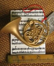Cannon Falls Band French Horn Instrument w Sheet Music Ornament marching band