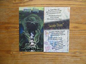 1994 TOPPS DC VERTIGO TALL CARD SET # 6 SWAMP THING SIGNED CHARLES VESS, POA