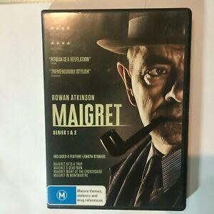 MAIGRET SERIES 1 & 2 - DVD 2 DISCS - ROWAN ATKINSON - R4 - VGC - FREE POST