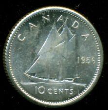 1956 Canada Queen Elizabeth II, Silver Ten Cent, Uncirculated   L10
