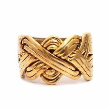 Solid Bronze 12 Band Turkish Puzzle Ring - Sizes from 8 to 14