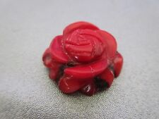 Bamboo Coral Carved Flower Pendant 1pc