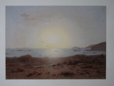 "EDUARD HILDEBRANDT ,1817   - 1868 BERLIN . "" MITTERNACHTSSONNE  am NORDKAP ""1856"