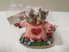 """Fitz And Floyd Charming Tails """"We""""Re A Perfect Fit Figurine Item 84/111 Nib"""