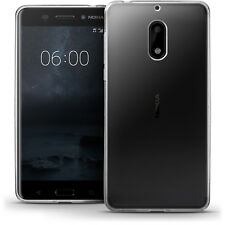 Glossy TPU Gel Case Skin for Nokia 6 (2017) Soft Cover + Screen Protector