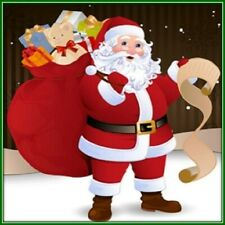 30 Custom Santa Art Personalized Address Labels