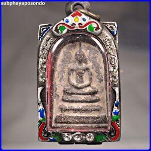 💥PHRA SOMDEJ TOH WAT RAKUNG.OLD CASE Thai Amulet 131