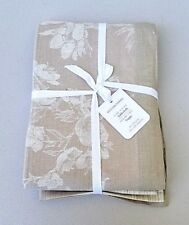 Williams Sonoma Ombre Floral Jacquard Tablecloth 70 x 90 Natural NWT