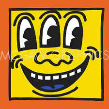 Keith Haring KH16 Contemporary Pop Art Face Three Eyes Print Poster 11x14