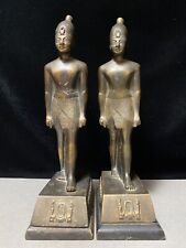 Pair of Antique Osiris? Egyptian Revival Bronze Bookends Statues