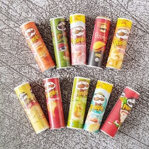 Dollhouse Miniatures Food Snacks Pringles Packets Groceries Barbie Supply Lotx10