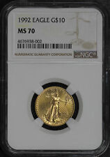 1992 $10 American Gold Eagle 1/4 oz NGC MS-70