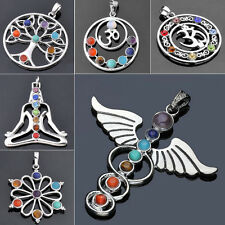 Wholesale Classic Resin Beads Reiki Chakra Healing Point Pendant For Necklace