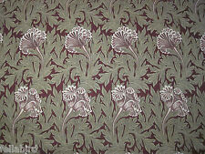 "WILLIAM MORRIS CURTAIN FABRIC DESIGN ""Tulip"" 3.1 METRES HEATHER/OLIVE (310 CM)"