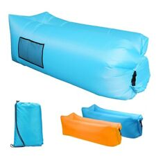 Inflatable Lounger Air Sofa Outdoor Portable Fast Inflatable Mattress with Bag