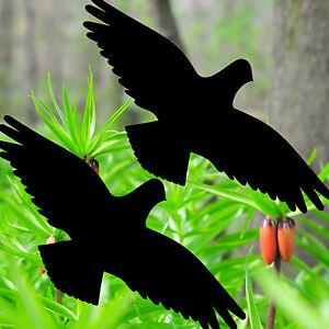 2 Sticker 40cm Black Hawk Bird Warning Bird Window Protection 4061963035269
