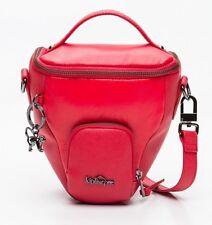 kipling camera bag L Raspberry Lea leather C  RRp £148 NEW