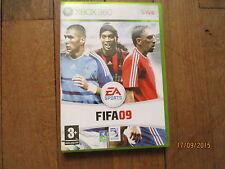 JEU VIDEO XBOX 360 FOOTBALL FIFA 09  + notice + boite