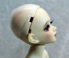 "1/6 6-7"" BJD DOLL WIG SILICONE HEADCAP HEAD CAP PROTECTOR TINY DOLLFIE USA"