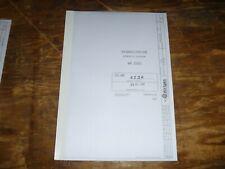 Wirtgen WR2000 Road Cold Asphalt Recycler Hydraulic Diagrams Manual