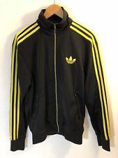 VTG Adidas Men's Full Zip Track Jacket Trefoil Running Coat 3 Stripe Small S