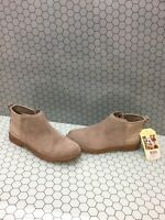 TOMS 'DEIA' Desert Taupe Suede Side Zip Ankle Boots Youth Girls Size 5.5