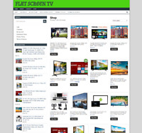 flat screen tv website with one years hosting - new domain - easy home business