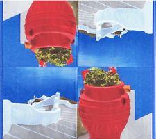 4 SERVIETTES EN PAPIER GRECE MER PAYSAGE FLEURS. 4 PAPER NAPKINS GREECE SEA