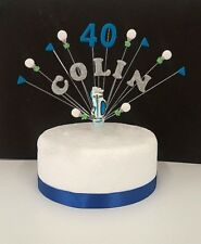 Golf personalised birthday cake topper, cake decoration any name and age