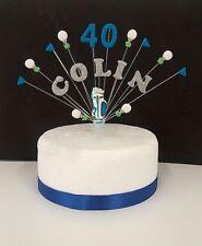 GOLF personalizzato compleanno cake topper, decorazione per torta Qualsiasi Nome ed Età