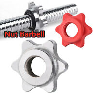 Weight Spin Lock Screw Barbell Bar Clips Check Nut Dumbbell Spinlock Collars US
