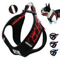 Reflective Nylon Dog Harness Step In Pet Harness Vest with Soft Padded inner