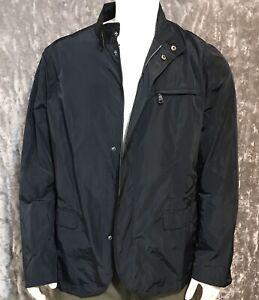 Angelo Litrico Men's Water Resistant Windbreaker Black Polyester Jacket XL